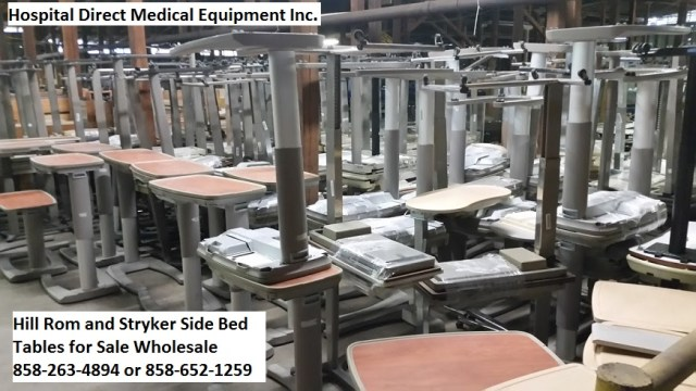 Hill and Stryker Hospital Bed Side Tables for Sale 858-263-4894