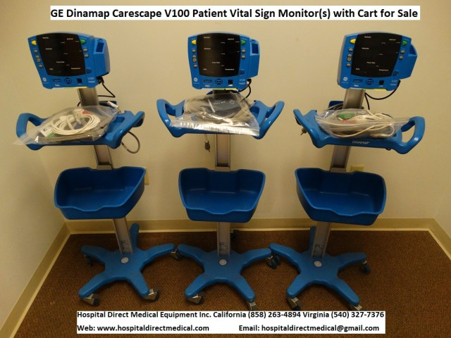 GE Dinamap Carescape V100 patient monitors