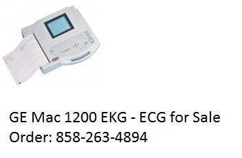 GE Mac 1200 EKG for sale refurbished Order: 858-263-4894