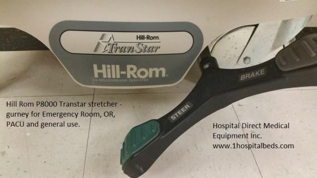 Hill Rom P8000 Transtar stretcher braking pedals - order stretcher 858-263-4894