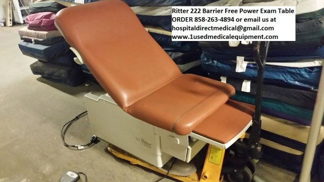 Ritter 222 low exam table barrier free power exam table for sale