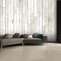 Shabby Chic Coloured Wooden Panel Wall Mural | 315cm x 232cm