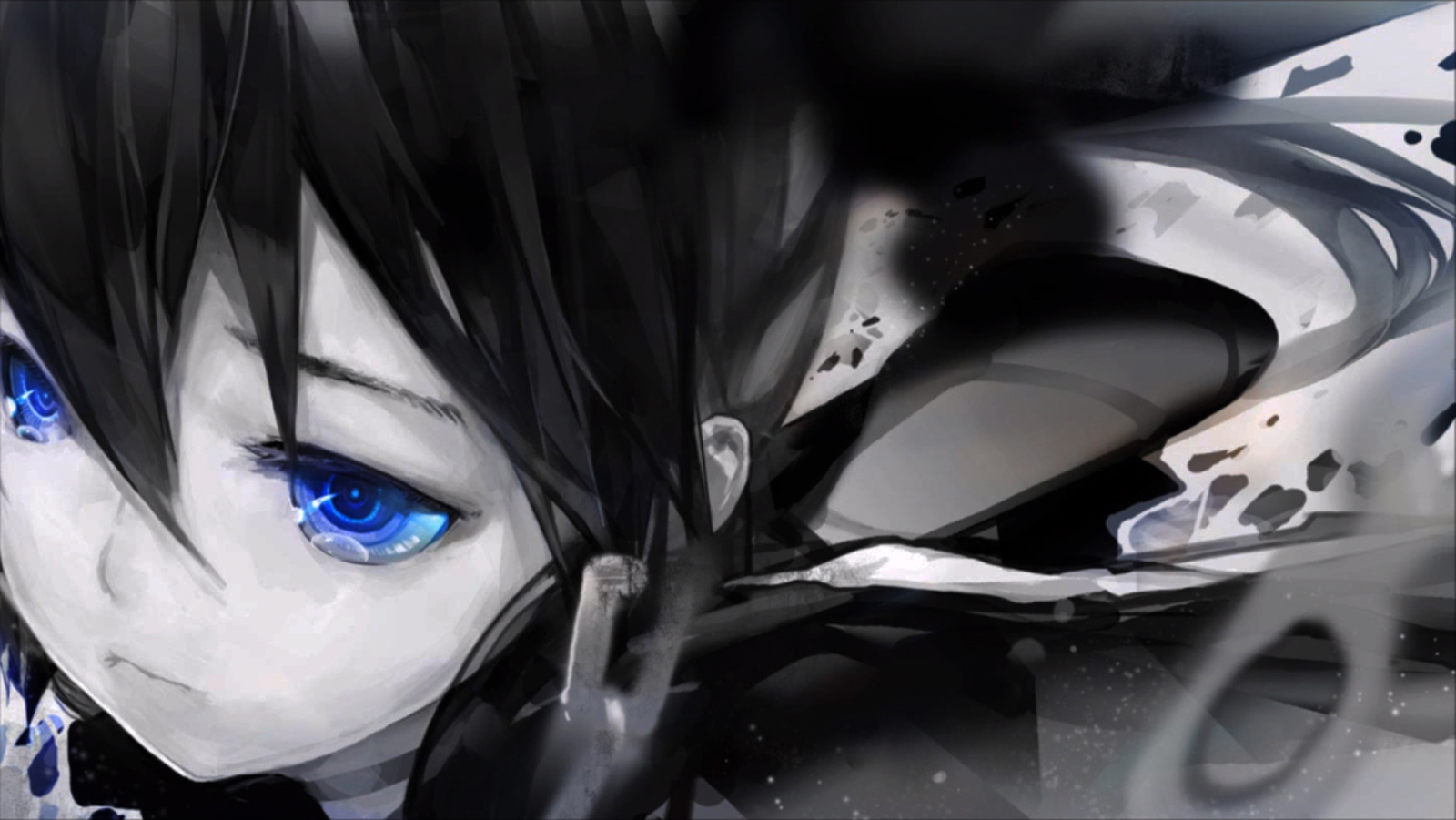 Anime Girl Wallpaper White Haired Demon Guy Fondos De Pantalla Black Rock Shooter Anime Chicas