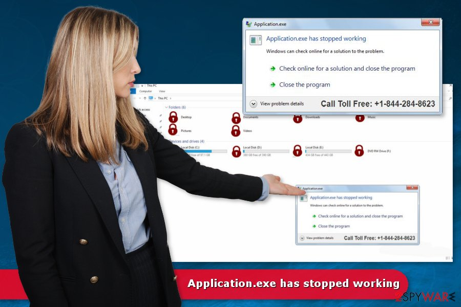 Remove Applicationexe has stopped working (Virus Removal