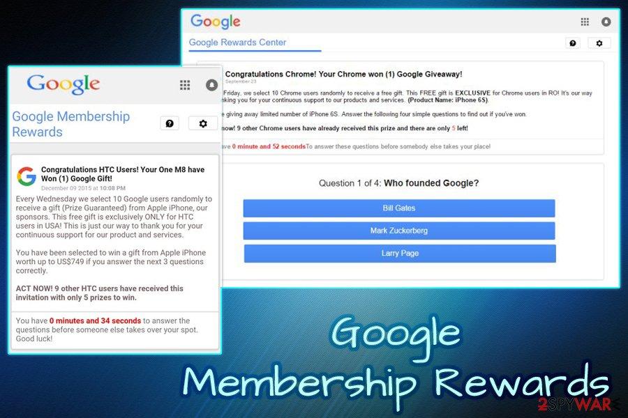 Remove Google Membership Reward (Free Instructions) - Virus Removal