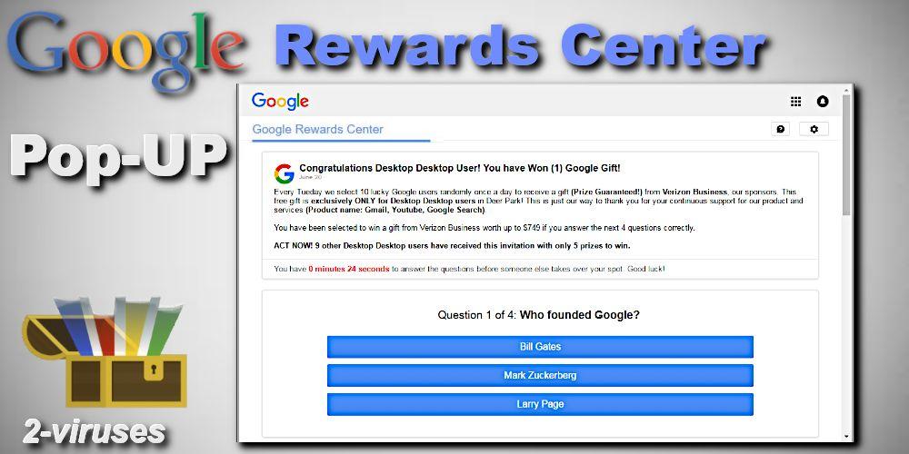 Google Rewards Centre Pop-up - How to remove - 2-viruses