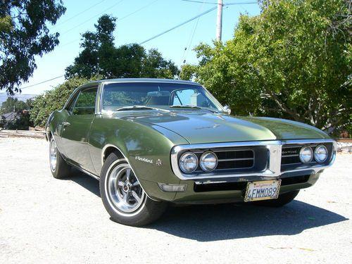 Purchase used RARE ORIGINAL 1968 PONTIAC FIREBIRD 350 WITH 66,500