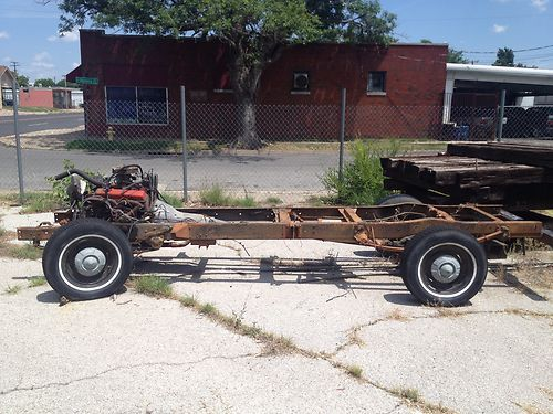 Buy used 1957 Chevy Truck Frame and COMPLETE RUNNING DRIVETRAIN