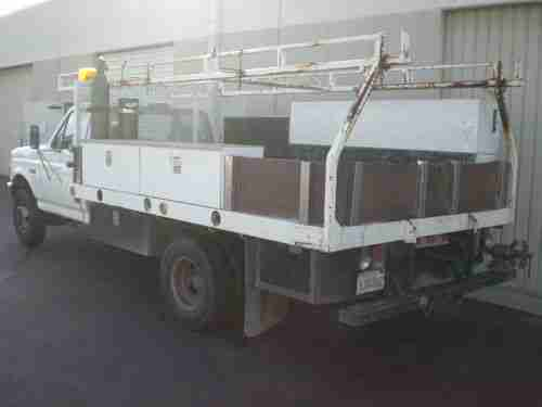 Buy Used 1996 Ford F350 Flatbed Truck With Tool Boxes And