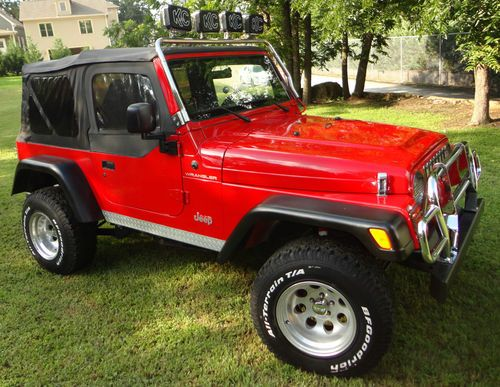Find Used Nicest Jeep Wrangler Sport Red Paint Chrome