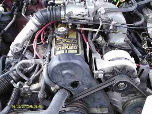 Purchase used 1986 MERCURY COUGAR XR7 WITH FUEL INJECTED TURBO