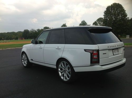 Sell Used 2014 White Range Rover Supercharged V8 W Black