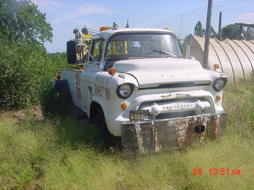 Purchase used 1955 chevrolet coe cabover big back window wrecker tow