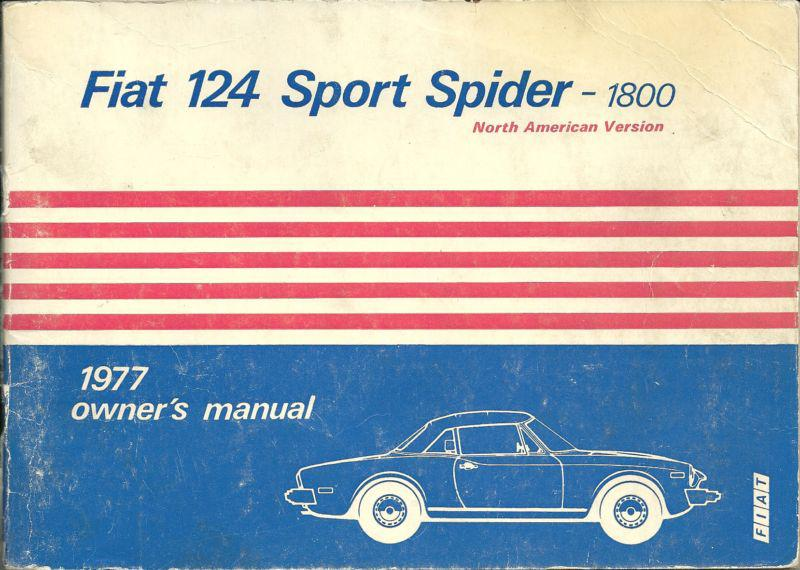 Buy RARE Fiat 124Sport Spider 1800 Owners Manual with GREAT foldout