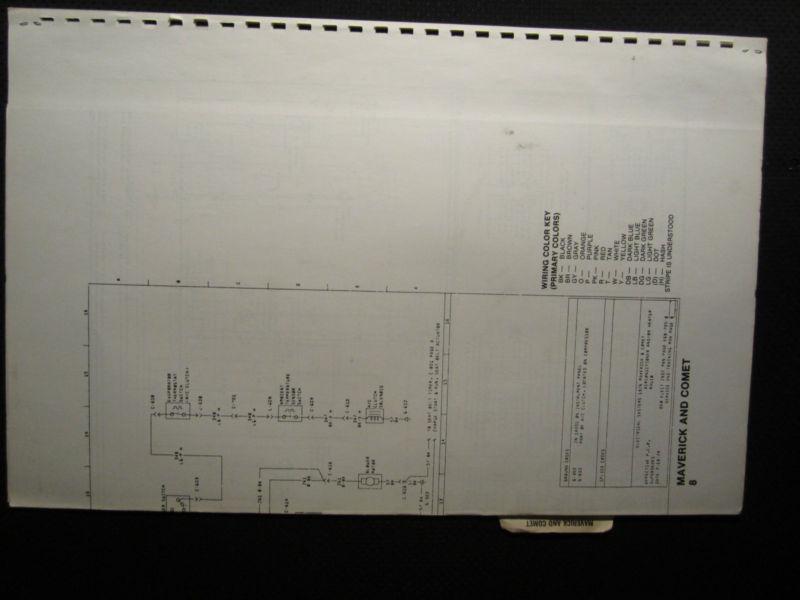 Buy 1976 Ford Maverick Mercury Comet Electrical Wiring Diagram