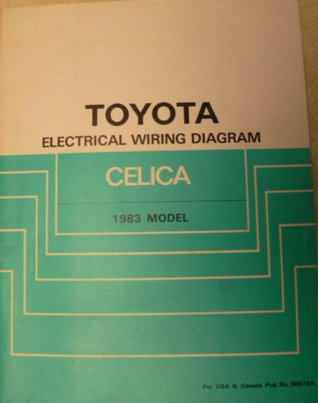 Sell 1983 Toyota Celica Repair Shop Electrical Wiring Diagram, RA64