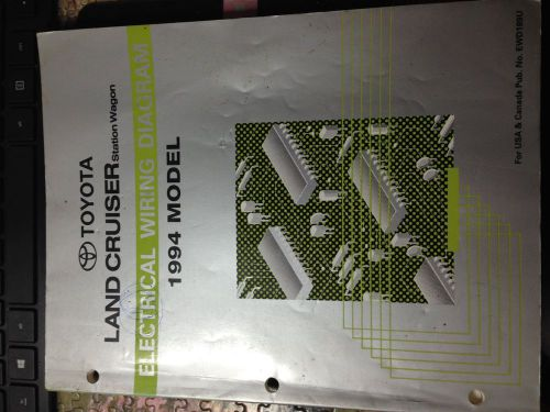 Sell 1994 TOYOTA LAND CRUSER STATION WIRING DIAGRAM BOOK motorcycle