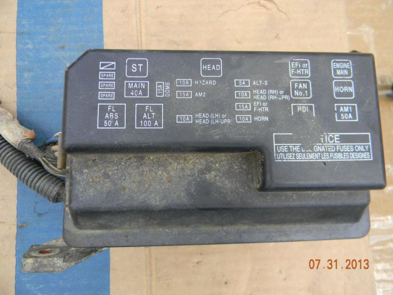 98 Toyota Fuse Box Index listing of wiring diagrams
