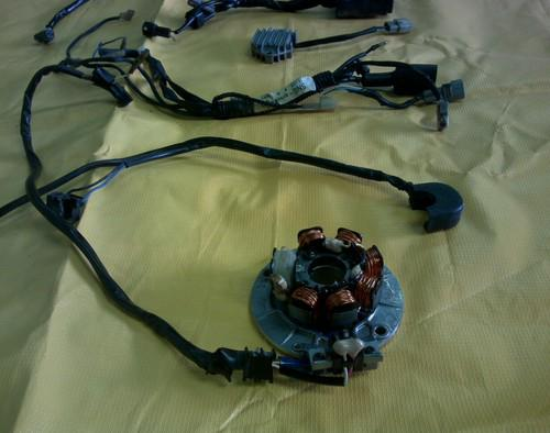 Sell 02 Yamaha wr 426 Wiring Harness CDI Box Coil Stator Fly Wheel