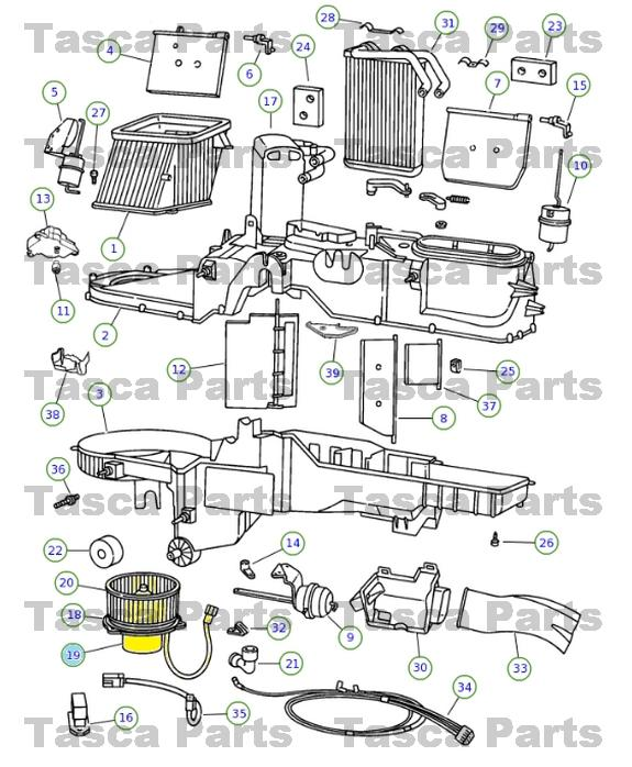 1994 jeep blower motor del Schaltplan