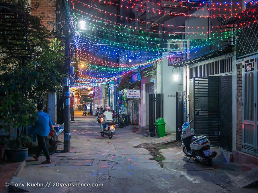 An alley in Saigon