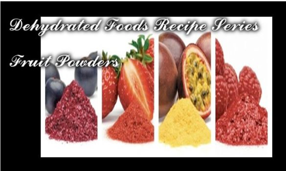 Dehydrated Foods Recipe Series_Fruit Powders