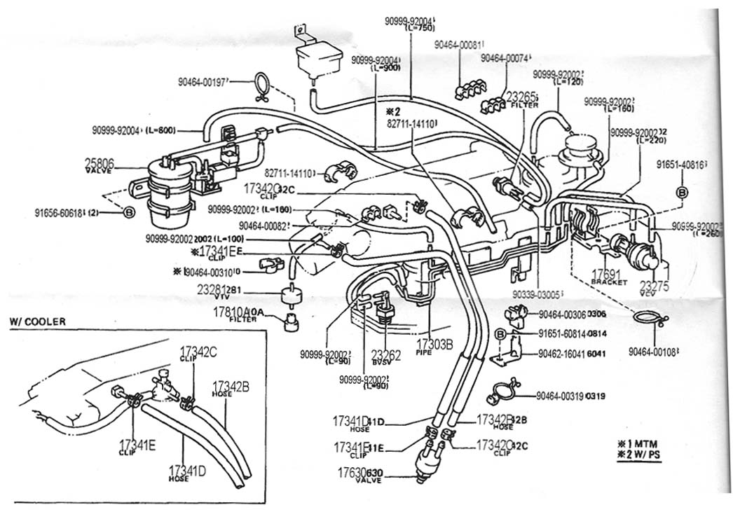 89 toyota pickup engine diagram