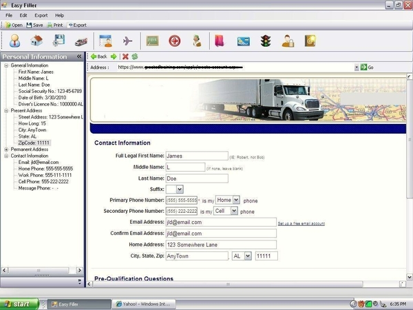 Mitchell  Noble Introduce Easy Filler Job Application Software