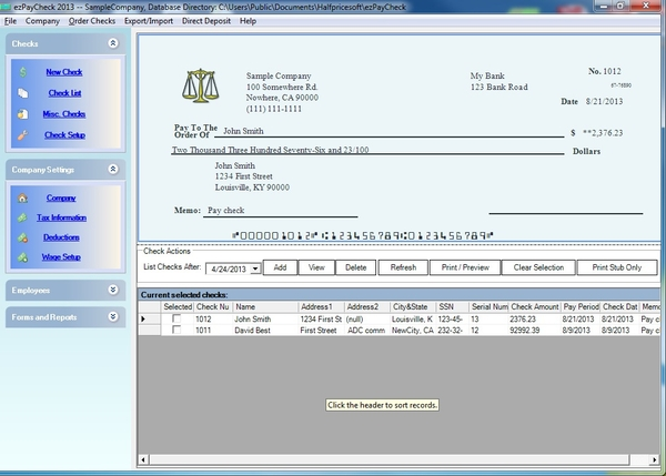 ezPaycheck for Trucking Companies Kiss Payroll Tax Calculation - payroll tax calculator