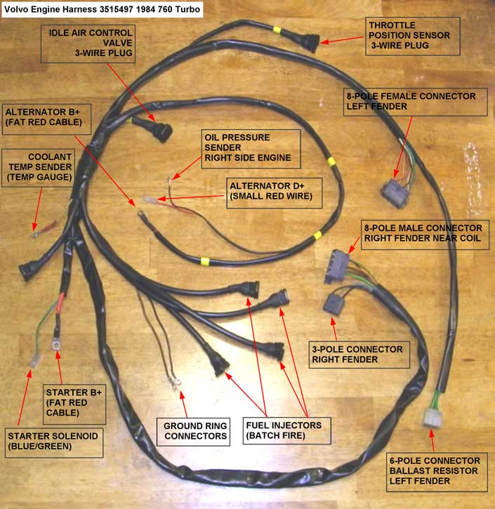 Dave\u0027s Volvo Engine Wire Harness Page