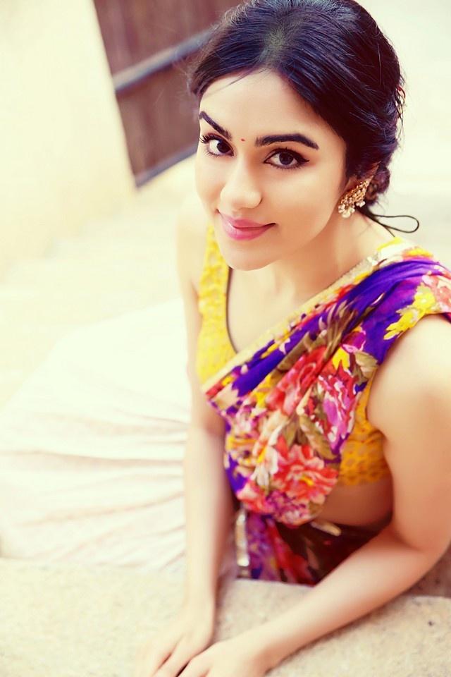 Girl In Saree Hd Wallpaper Adah Sharma Latest Hot Half Saree Photoshoot Hd Photos