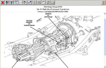 2004 Dodge Ram O2 Sensor Location Where Is Bank2 Sensor 2 on a