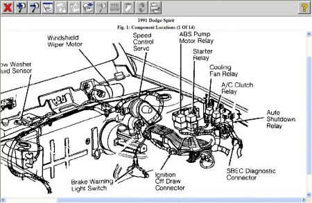 1990 Dodge Spirit Heater Wiring Diagram Wiring Schematic Diagram
