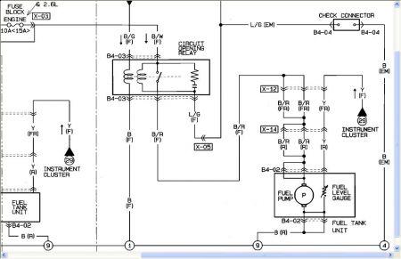 Mazda B2600 Fuel Pump Wiring Wiring Diagram