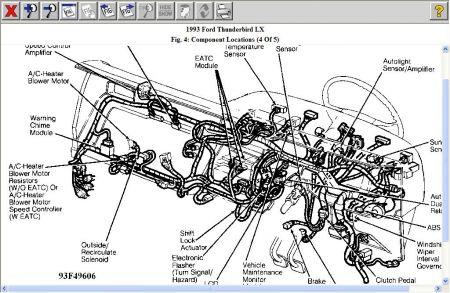 1993 Ford Thunderbird Blower Stuck on High Heater Problem 1993