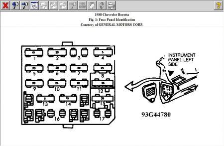 88 chevy beretta fuse box diagram