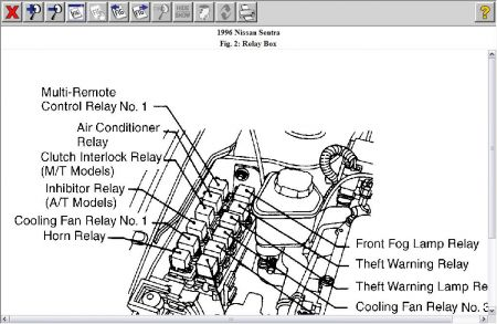 1996 Nissan Sentra Starter Relay 1996 Nissan Sentra Automatic