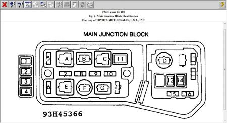1994 lexus ls400 fuse box location