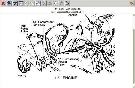 1984 Pontiac Sunbird Fuel Pump Relay Electrical Problem 1984