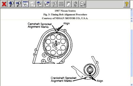 1987 Nissan Sentra TIMING BELT I NEED a DIAGRAM ON HOW TO SET THE