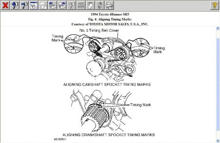 1994 Toyota 4Runner Timing Belt Install What Is the Correct