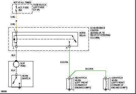 1991 Chevy Camaro Horn Electrical Problem 1991 Chevy Camaro V8 My