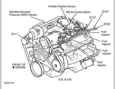 dodge durango engine diagram