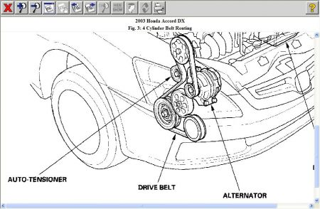 2003 Honda Accord Drive Belt How Do I Remove and Replace the