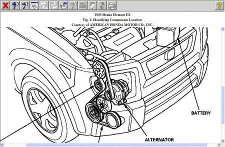 2005 Honda Element Alternator Wiring Schematic Diagram
