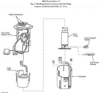 2000 nissan maxima fuel filter location