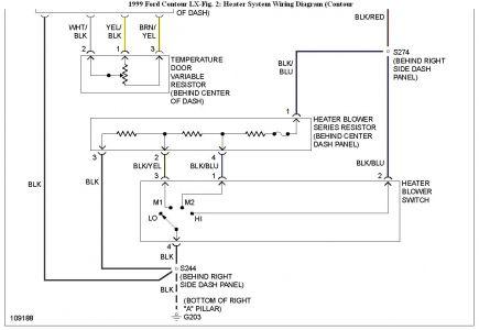 1999 Ford Contour Wiring To Alternator Wiring Diagram