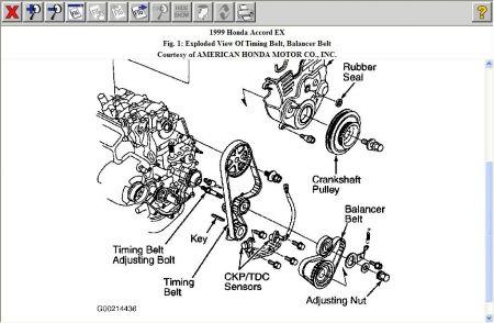 99 honda accord engine diagram