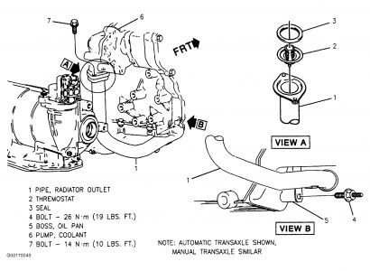 2001 chevy cavalier thermostat location diagram related images