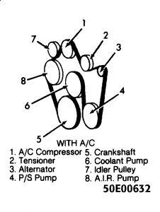 95 chevy belt diagram